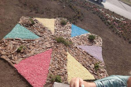Комунальники зробили декоративні клумби на 101-му мікрорайоні. ФОТОФАКТ