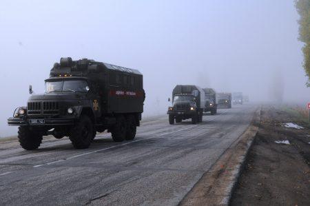 Рятувальники провели марш спецтехніки. ФОТО
