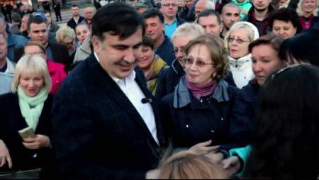 Саакашвілі  у Кропивницькому розкритикував своїх кумів  Ющенка і Порошенка та запевнив, що Майдан не на часі. ВІДЕО