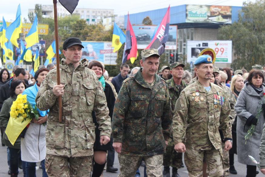 У Кропивницькому урочисту ходу очолив легендарний зв'язківець УПА. ФОТО