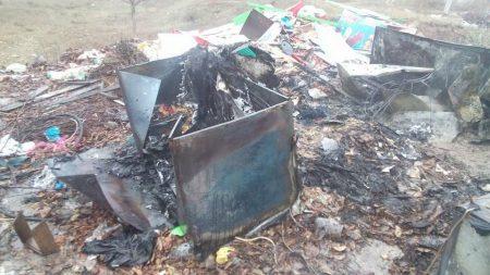 У Кропивницькому біля Сугоклеї спалювали старі холодильники. ФОТО, ВІДЕО
