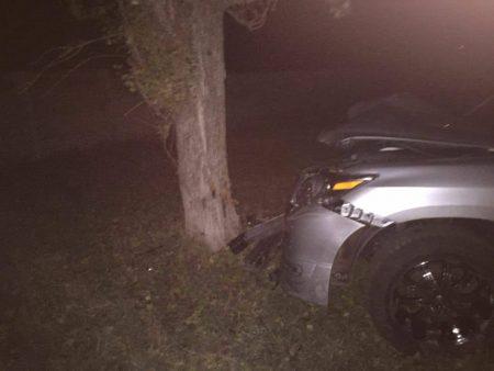 У Кропивницькому водій лексуса розбив автівку об дерево. ФОТО