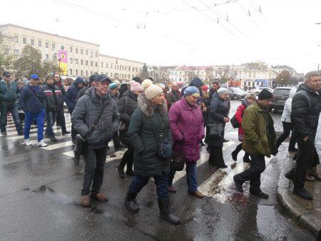 """Підприємці з """"Європейського"""" перекрили центральну вулицю Кропивницького. ФОТО, ВІДЕО"""