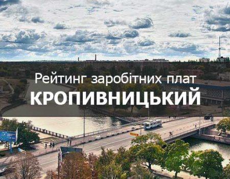 Рейтинг заробітних плат у Кропивницькому: 11 листопада