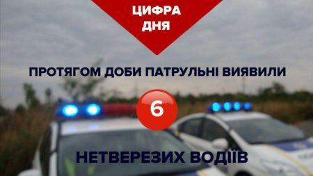 У Кропивницькому патрульні протягом доби виявили 6 нетверезих водіїв