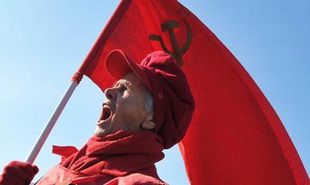 Офіс у центрі, радянська символіка, масові акції – як поживає заборонена Комуністична партія в Кропивницькому. ФОТО