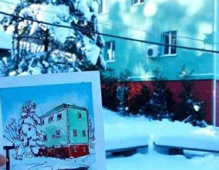 Художниця Ольга Цимбаліст видасть листівки із локаціями Кропивницького. ФОТО