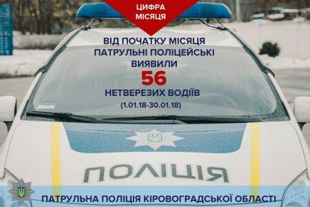 П'яні за кермом: статистика місяця від патрульної поліції Кропивницького. ІНФОГРАФІКА