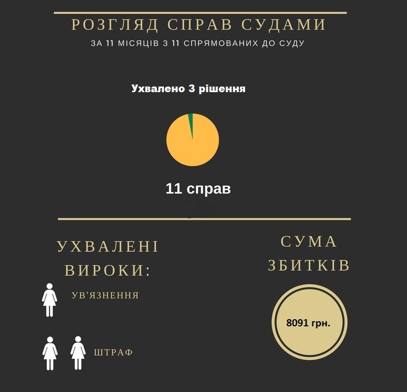 Результати боротьби з корупцією на Кіровоградщині у 2017 році. ІНФОГРАФІКА - 2 - Корупція - Без Купюр