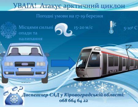 На Кіровоградщину насувається черговий арктичний циклон