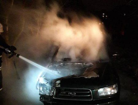 На проспекті Університетському згорів автомобіль. ФОТО