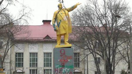 Депутат Кіровоградської облради закликав повернути демонтований пам'ятник Леніна в Світловодську. ВІДЕО