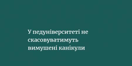 Центральноукраїнський державний педагогічний університет ім. В.Винниченка не відмінятиме вимушені канікули