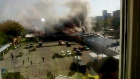 Відео з місця пожежі «Босфору» в Кропивницькому