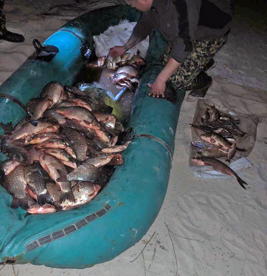 Без Купюр Кропивницький www.kypur.net - Кримінал - Порушник незаконно добув 213 кг риби у Кременчуцькому водосховищі Фотографія 2