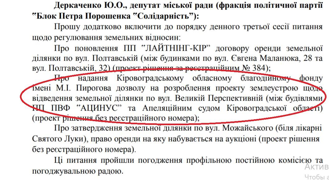 У Кропивницькому знову планують віддати в оренду сквер Борців за волю України - 2 - Життя - Без Купюр