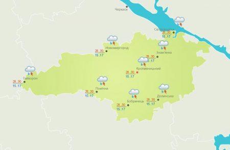 27 червня в Кропивницькому та в Кіровоградській області очікується гроза