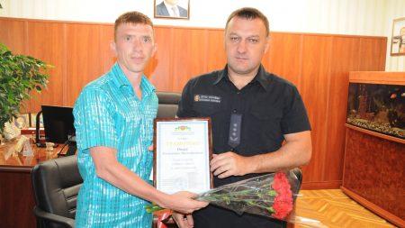 Чоловік, який врятував хлопчика в Світловодську, отримав відзнаку Управління ДСНС. ФОТО. ВІДЕО