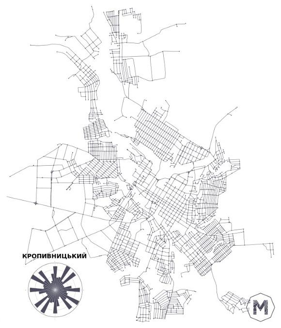 Без Купюр Як виглядає мережа вулиць Кропивницького. ІНФОГРАФІКА Життя  мережа вулиць Кропивницький