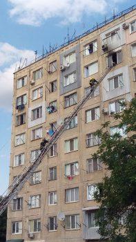 У Кропивницькому горіла квартира на 8-ому поверсі