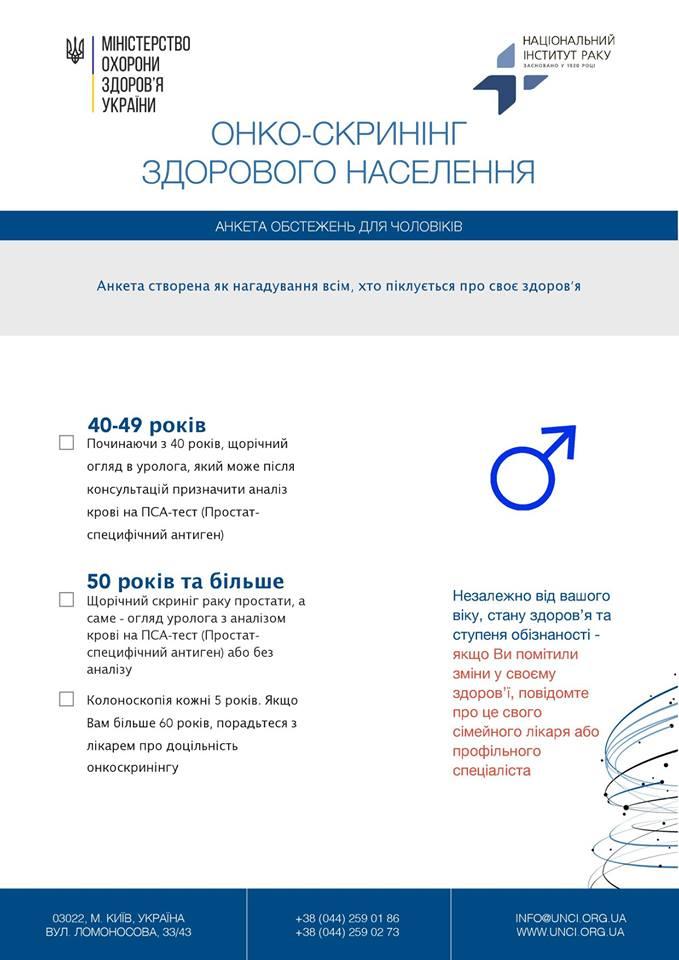 Онко-скринінг: які обстеження і в якому віці треба проходити чоловікам та жінкам - 2 - Здоров'я - Без Купюр