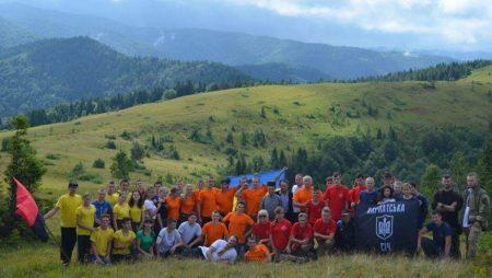 Молодь із Кіровоградщини взяла участь у національно-патріотичному, військово-спортивному вишколі в Карпатах