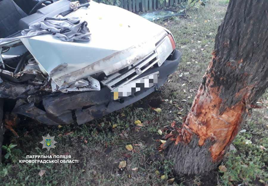 Без Купюр   За кермом   Нетверезий водій ВАЗ «влетів» у дерево та вщент розбив своє авто. ФОТО 2