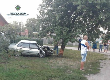 Нетверезий водій ВАЗ «влетів» у дерево та вщент розбив своє авто. ФОТО
