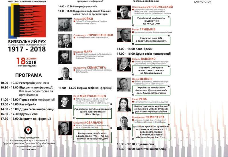 У Кропивницькому відбудеться науково-практична конференція про визвольний рух в Україні - 2 - Iстфактор - Без Купюр