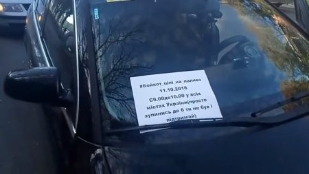 В Олександрії автомобілісти протестували через підвищення цін на пальне. ВІДЕО