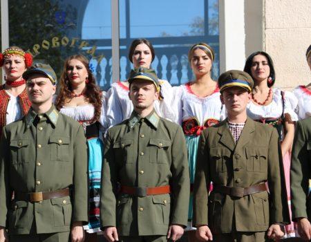 """На вокзалі в Кропивницькому """"зустрічали"""" січових стрільців. ФОТО"""