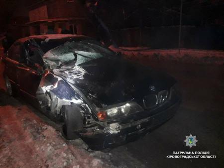 У Кропивницькому вночі трапилась ДТП з постраждалими. ФОТО