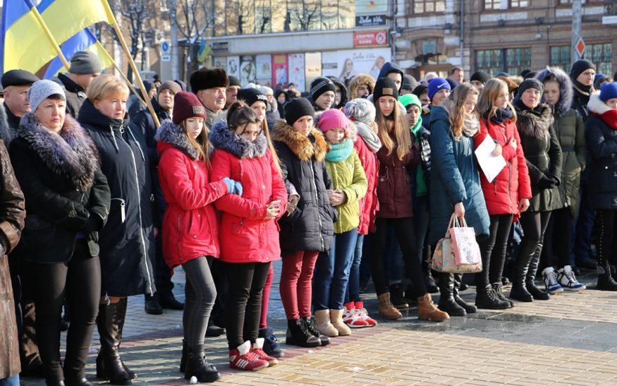 Без Купюр У Кропивницькому офіційно відзначили річницю Революції Гідності. ФОТО Життя  Революція гідності Кропивницький Євромайдан