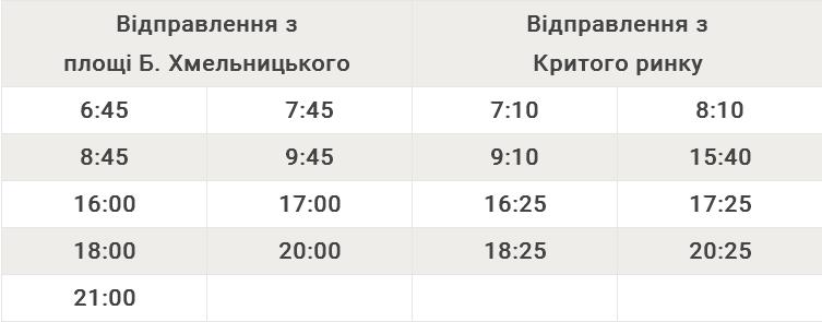 Автобусний маршрут №104A Площа Богдана Хмельницького – Критий ринок