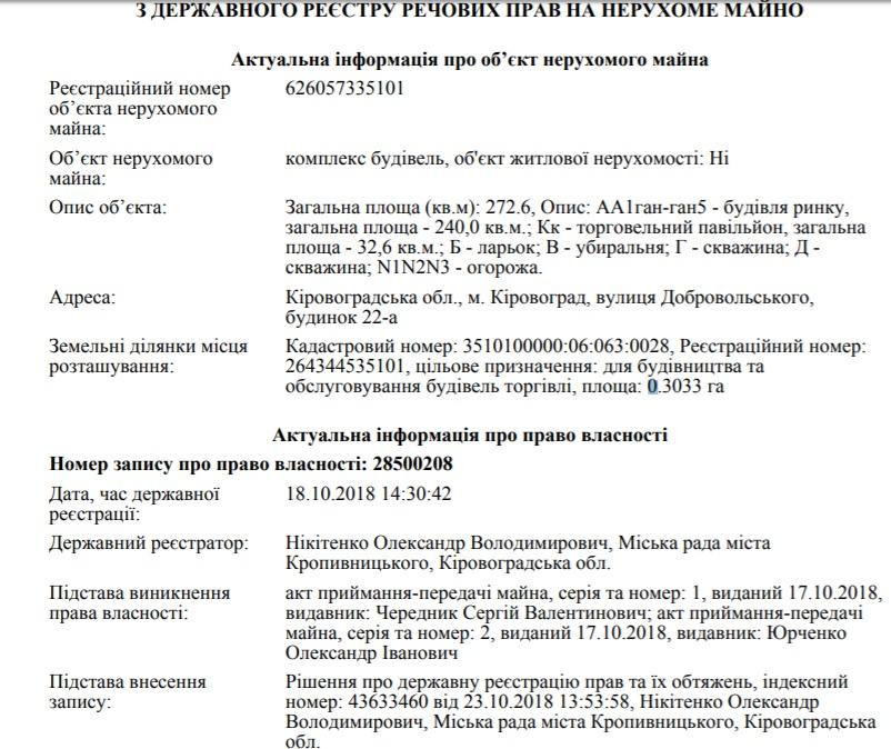 Міський голова Кропивницького поповнив власний бізнес новою фірмою 1