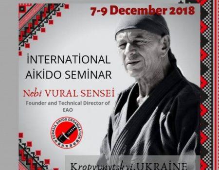 У Кропивницькому відбудеться міжнародний семінар із айкідо за участі засновника  Євразійської організації айкідо