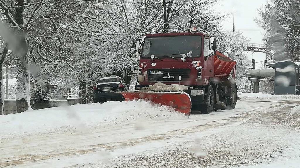 Комунальники Кропивницького відзвітували про розчистку доріг від снігу. ФОТО 3
