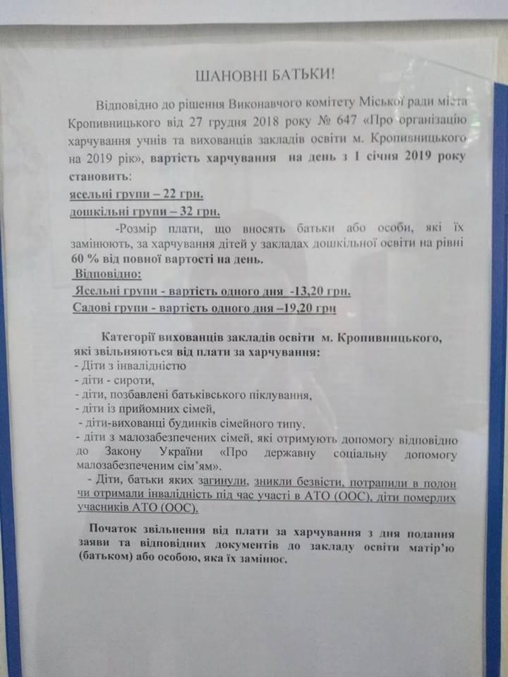 Без Купюр | Освіта | У садочках Кропивницького скасували пільгу на харчування дітей учасників АТО 1