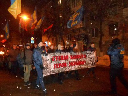 У Кропивницькому 110-річницю з дня народження Степана Бандери відзначили смолоскипним маршем