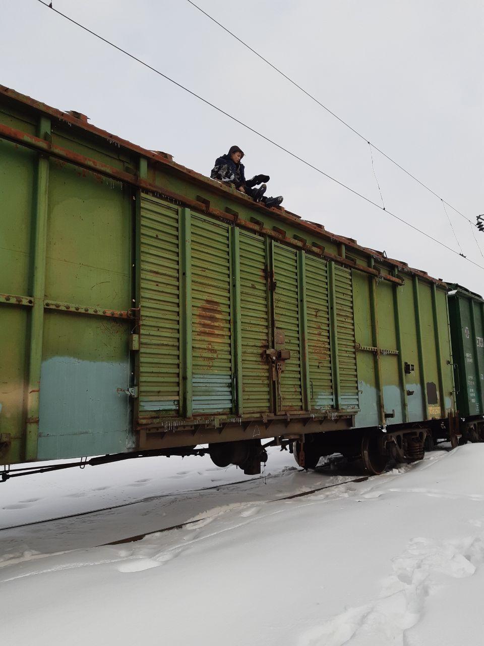 Без Купюр У Кропивницькому підлітка, який виліз на вагон потяга, вдарило струмом. ФОТО Життя  удар струмом Кропивницький ДСНС