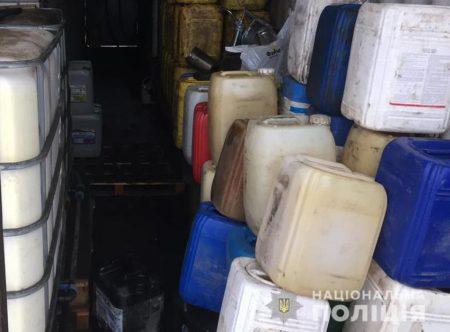 На Кіровоградщині поліція викрила підпільну автозаправку. ФОТО