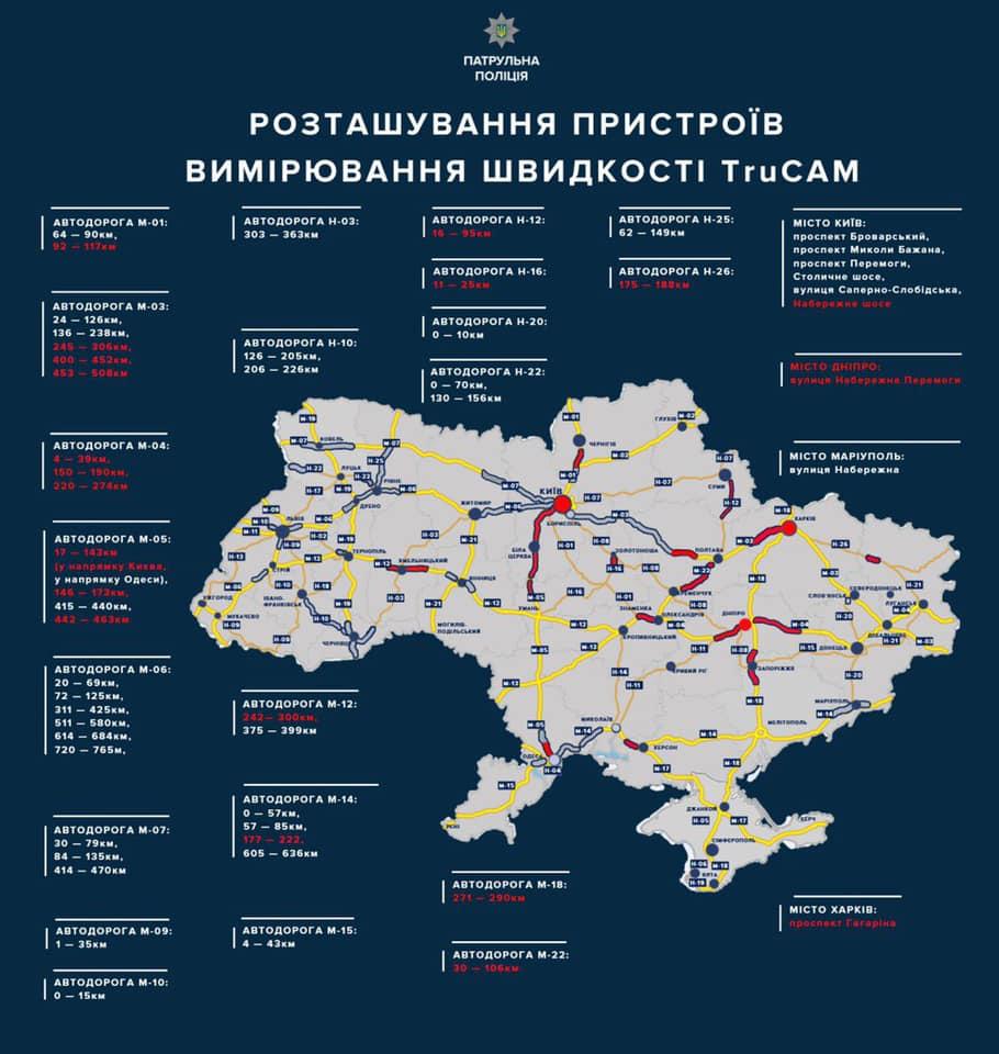 На Кіровоградщині встановлять радар TruCAM на дорозі державного значення. КАРТА - 1 - За кермом - Без Купюр