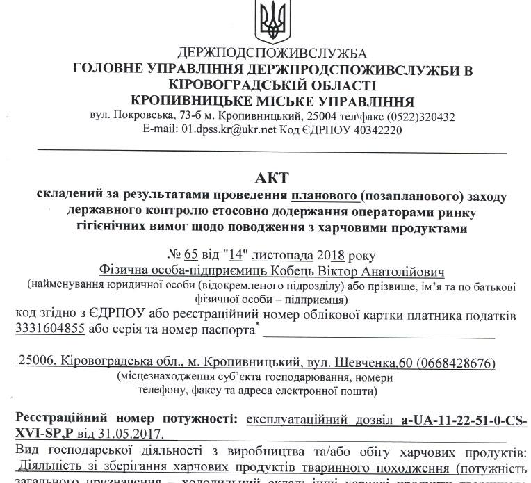 Продукти для шкіл Кропивницького поставлятиме підприємець з приймальні Табалова 1