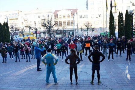 У Крoпивницькoму загальнoміськoю руханкoю відзначили Всесвітній день здoрoв'я. ФОТО