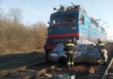На Кіровоградщини сталося зіткнення електропотяга з автомобілем
