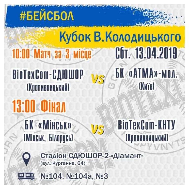 Без Купюр Кропивничан запрошують підтримати бейсбольну команду BioTexCom-КНТУ Спорт  Кропивницький бейсбол