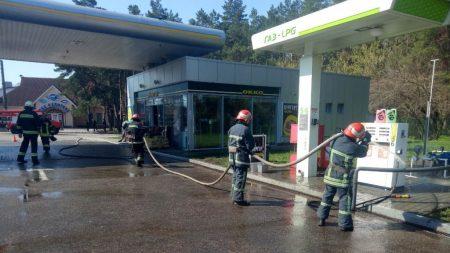 У Кропивницькому на заправці ліквідували витік газу. ФОТО