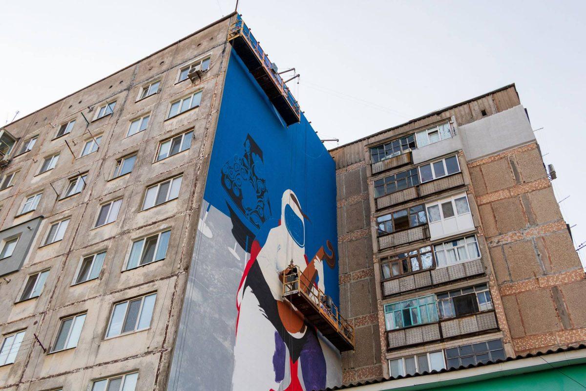 В обласному центрі почали малювати перший міський мурал. ФОТО - 2 - Життя - Без Купюр