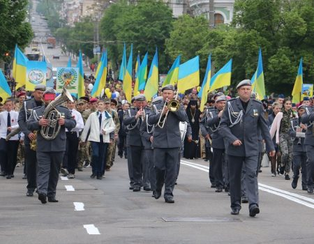Урочистою ходою у Кропивницькому відзначили День перемоги над нацизмом у Другій Cвітовій війні. ФОТО