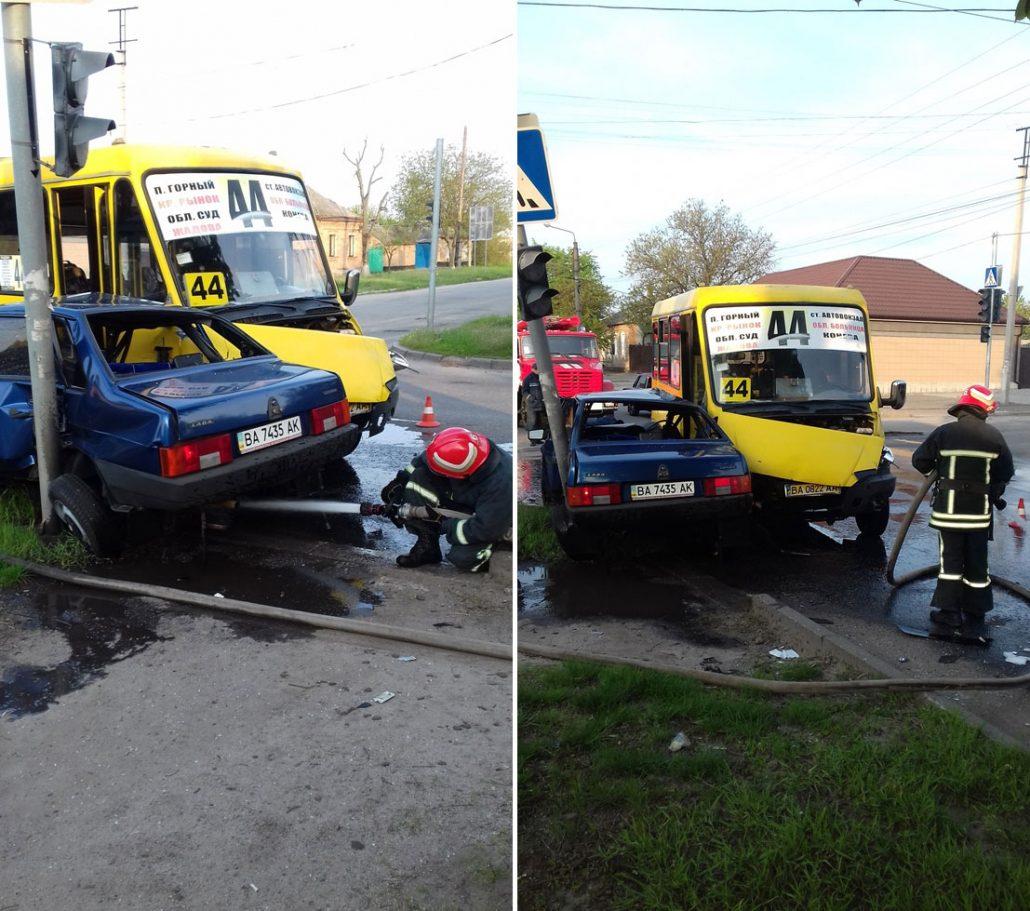 Без Купюр У Кропивницькому сталася ДТП за участі маршрутки та легковика За кермом  Кропивницький ДТП ДСНС